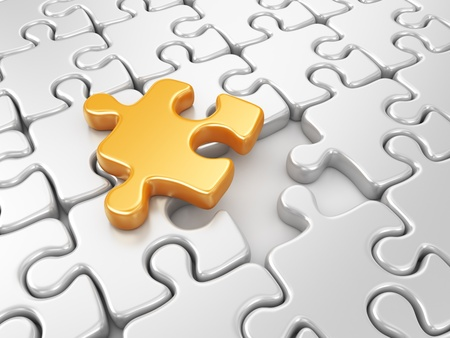 differs: Puzzle 3D. Innovate business concept Stock Photo