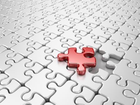 focus group: Puzzle 3D. Innovate business concept Stock Photo