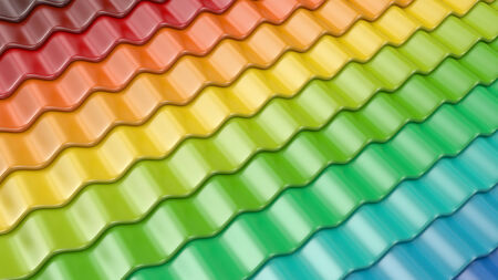roof tile: Colorful pattern of roof tile 3D. Architecture detail