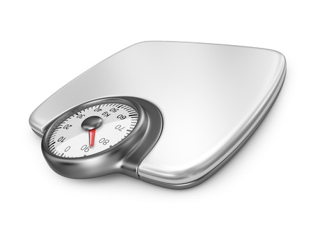 Floor weight scales. 3D Icon isolated on white background photo