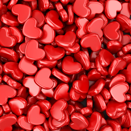 14: Pile of love hearts. Valentines day background