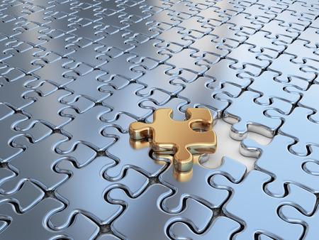 3D 퍼즐. 혁신 사업 배경을 차별화