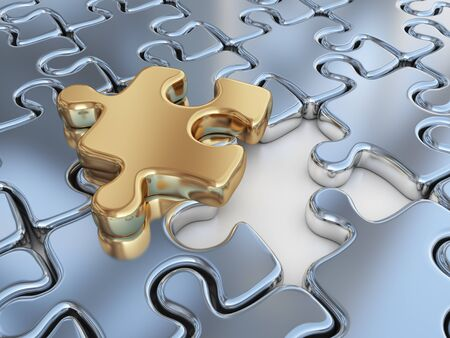 differential: Puzzle 3D. Innovate, differentiate business background
