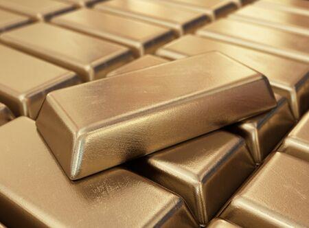 gold bars: Realistic gold bars. 3D illustration