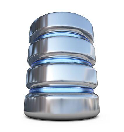 database icon: Database. Storage concept. 3D icon isolated on white background