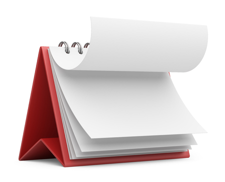 note pc: paper calendar. 3D icon isolated