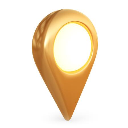 Orientar puntero del mapa. GPS localizar, aislado icono 3D