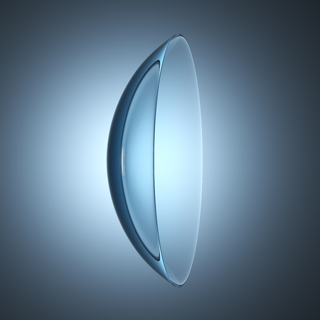 contact lens: contact lenses lens, 3D illustration Stock Photo