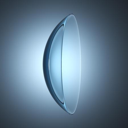 contact lenses lens, 3D illustration Banque d'images