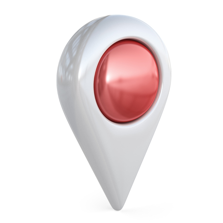 locate: Target map pointer. GPS locate, 3D icon isolated