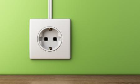 elektrische stopcontact, 3D illustratie Stockfoto