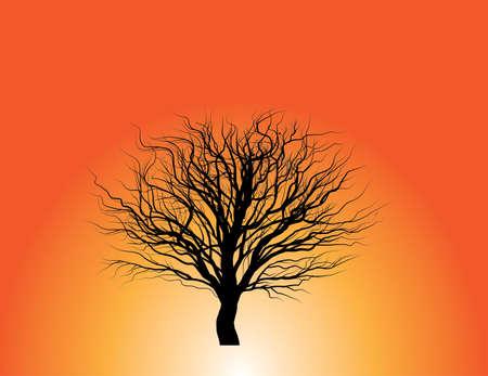 winter halloween spooky tree Vector