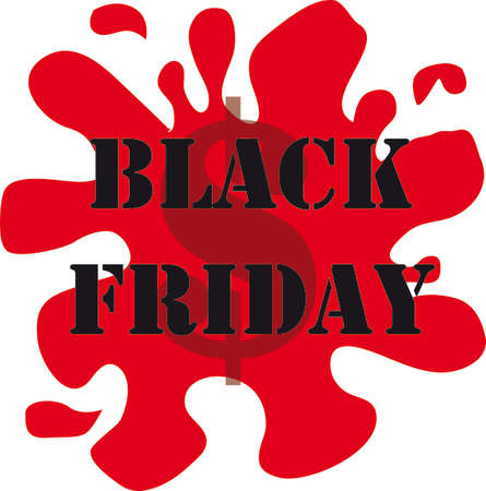 rebates: Black friday icon in red and black, white background
