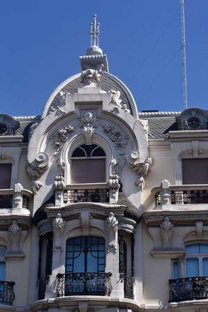 Casa Gallardo, located in the Plaza of Spain, corner of Calle Ferraz. Madrid modernism style. Architect Federico Arias Rey. Stock Photo
