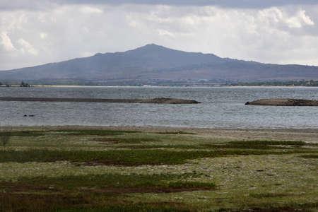 el: Santillana reservoir, located in Manzanares El Real, Madrid, Spain