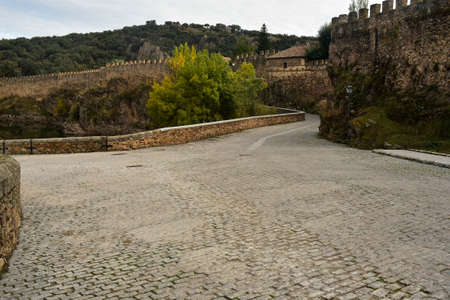 Crossroads and walls of Buitrago de Lozoya. Madrid's community. spain
