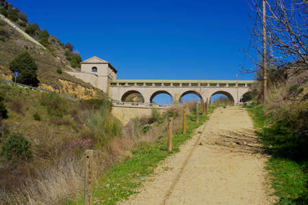 isabel: Aqueduct of the Canal de Isabel II in Patones de Arriba. Madrids community. spain