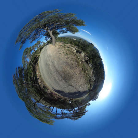 Little Planet of Monte Abantos, in San Lorenzo de El Escorial. Madrid's community. Spain. Foto de archivo
