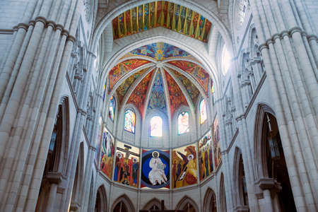 Dome of the Cathedral of the Almudena, Madrid. Madrid's community. Spain.