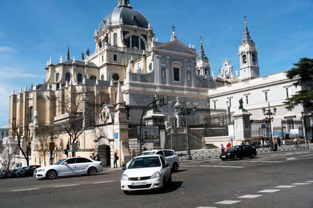 Cathedral of the Almudena, in Madrid. Madrid's community. Spain.