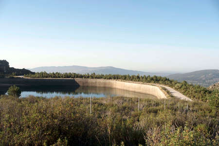 Majalespino reservoir. Mount of the Almorchones. Becerril de la Sierra. Madrid's community. Spain.