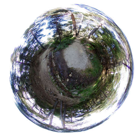 Litle planet. Ortiz road. Valley of the Barranca, Guadarrama Mountain range. Madrid's community. Spain. Europe. Foto de archivo
