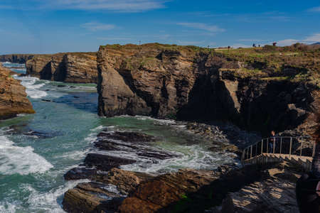 Beach of the cathedrals. Coast of Lugo. Spain. Europe.
