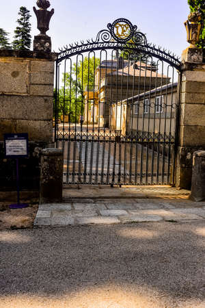 Entrance gate to the Maison du Prince. San Lorenzo de El Escorial. Madrid's community. Spain.