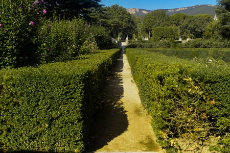 Gardens of the Prince's Cottage. The Escorial. Madrid's community. Spain. Europe. Editorial