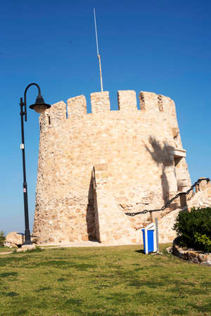 Coastal watchtower of Cape Cervera. Torrevieja Spain. Фото со стока