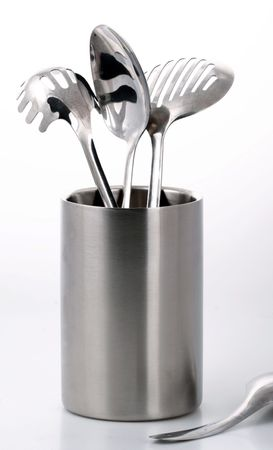 silver kitchenware