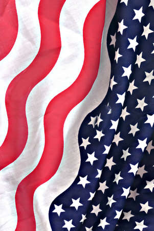 american flag fabric background Stock Photo - 1365384