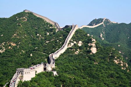 Tourist-spot at Great Wall of China photo