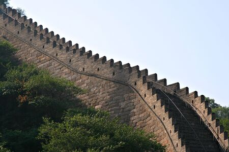 Great Wall of China close-up Imagens