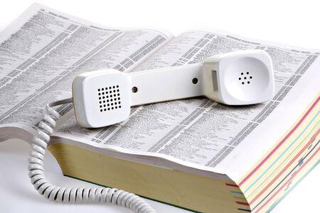 starym stylu telefon żółtej książce telefonicznej