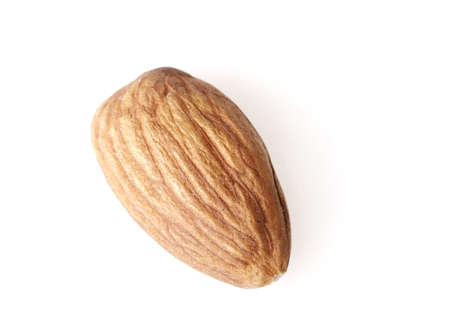 single isolated almond