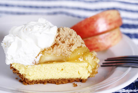 French apple cream cheese pie Imagens