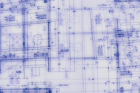 Abstract engineering drawing blue prints background
