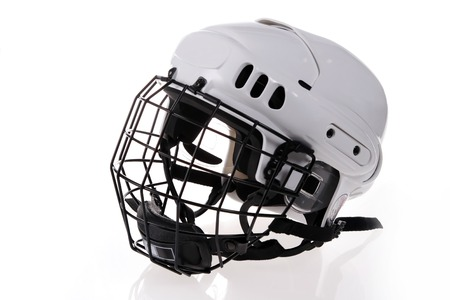 white hockey helmet