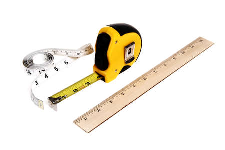 architect tools: different type of rulers Stock Photo