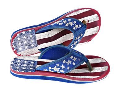 a pair of worn flip flop slippers Stock Photo - 1412956