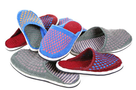 made: home made slippers Stock Photo