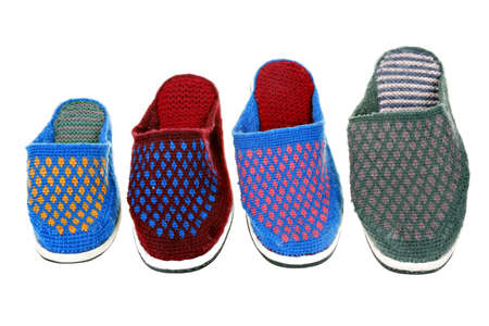 made: colorful home made slippers