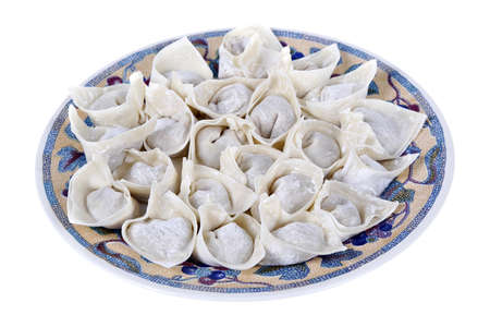 Traditional Chinese wonton dumplings Stock Photo