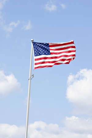 American flag under beautiful sky Stock Photo - 1511003