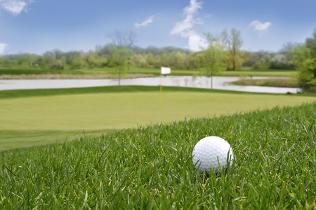 Golf ball found in a beautiful countryside golf course Stock Photo - 1511008