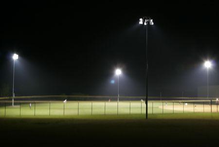 light game: Ball Park di notte Archivio Fotografico