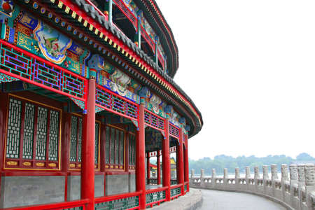 Ancient Chinese Architecture in Central Beijing photo