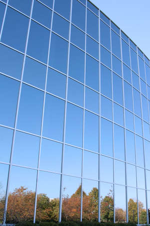 Modern Office Building Glass Wall Pattern