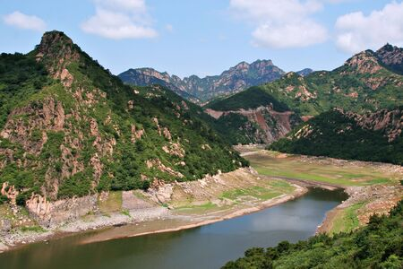 characteristic: Top View of Characteristic Northern China Mountains